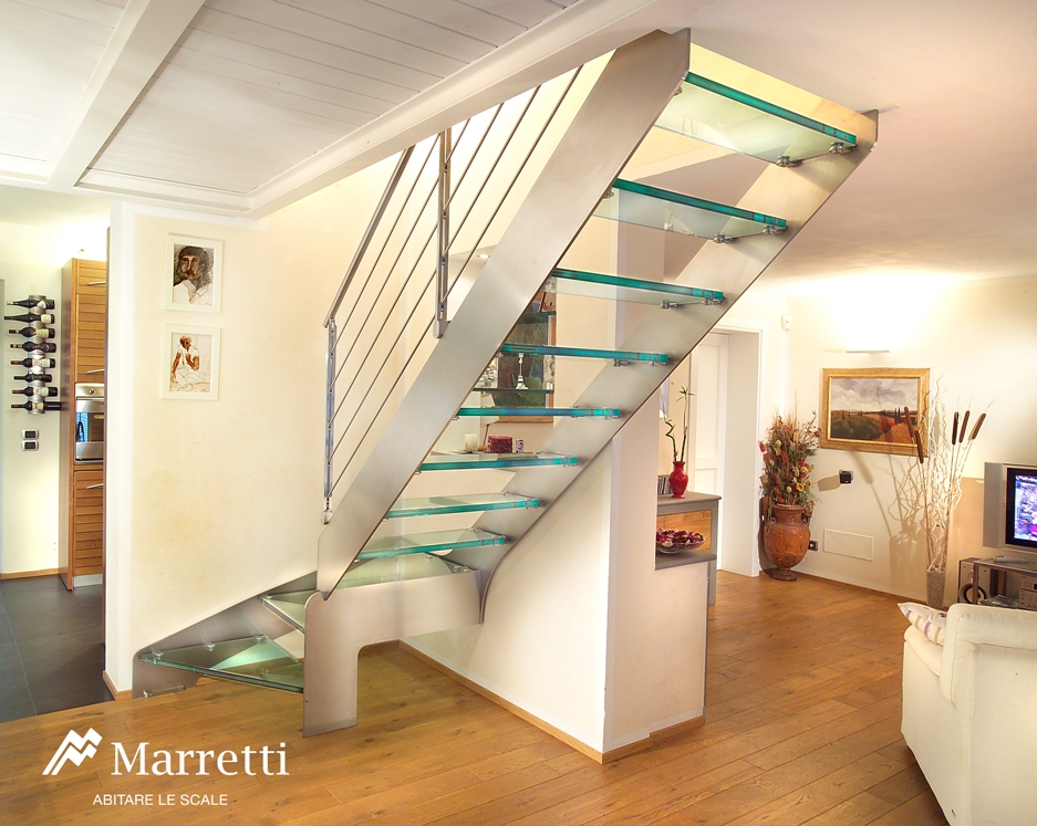 Stairs in Stainless Steel, Straight Stacked Stairs with steel band on home bookcase design, home trim design, home balcony design, home steel design, home bridge design, home corridor design, home stage design, home interior design, home terrace design, home building design, home church design, home arches design, home pantry design, home wall design, home stairway design, home house design, home restaurant design, home modern design, home painting design, home column design,