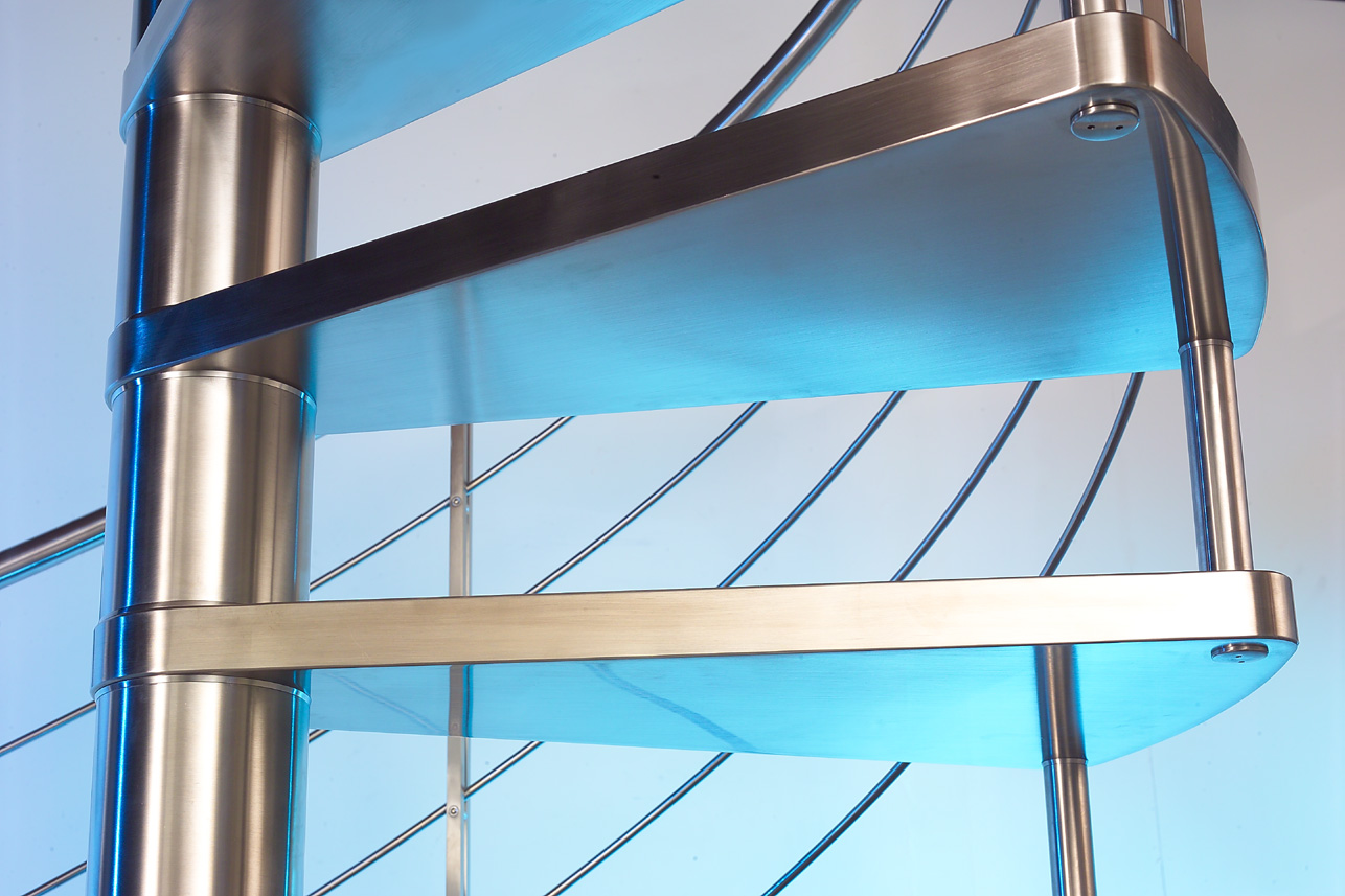 Stainless steel spiral staircase marretti made in italy - Scale a chiocciola ...