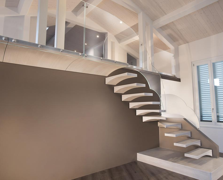 gull wing resin staircase with glass banister chieti it
